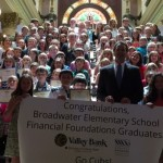 Governor Bullock with Broadwater Elementary Students