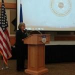 Holly Petraeus at Malmstrom Airforce Base in Great Falls